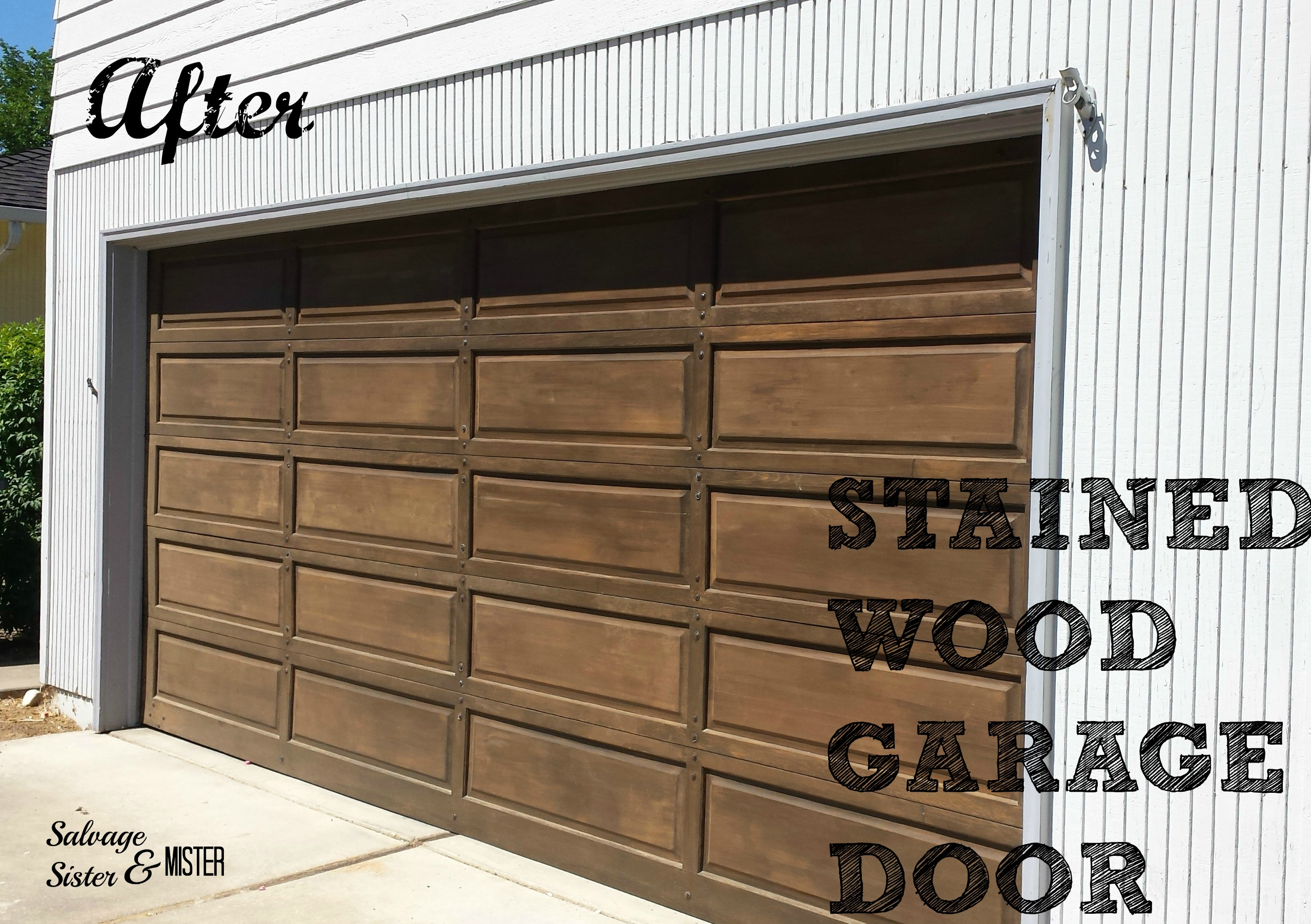 Diy Wood Garage Door Makeover Salvage Sister And Mister
