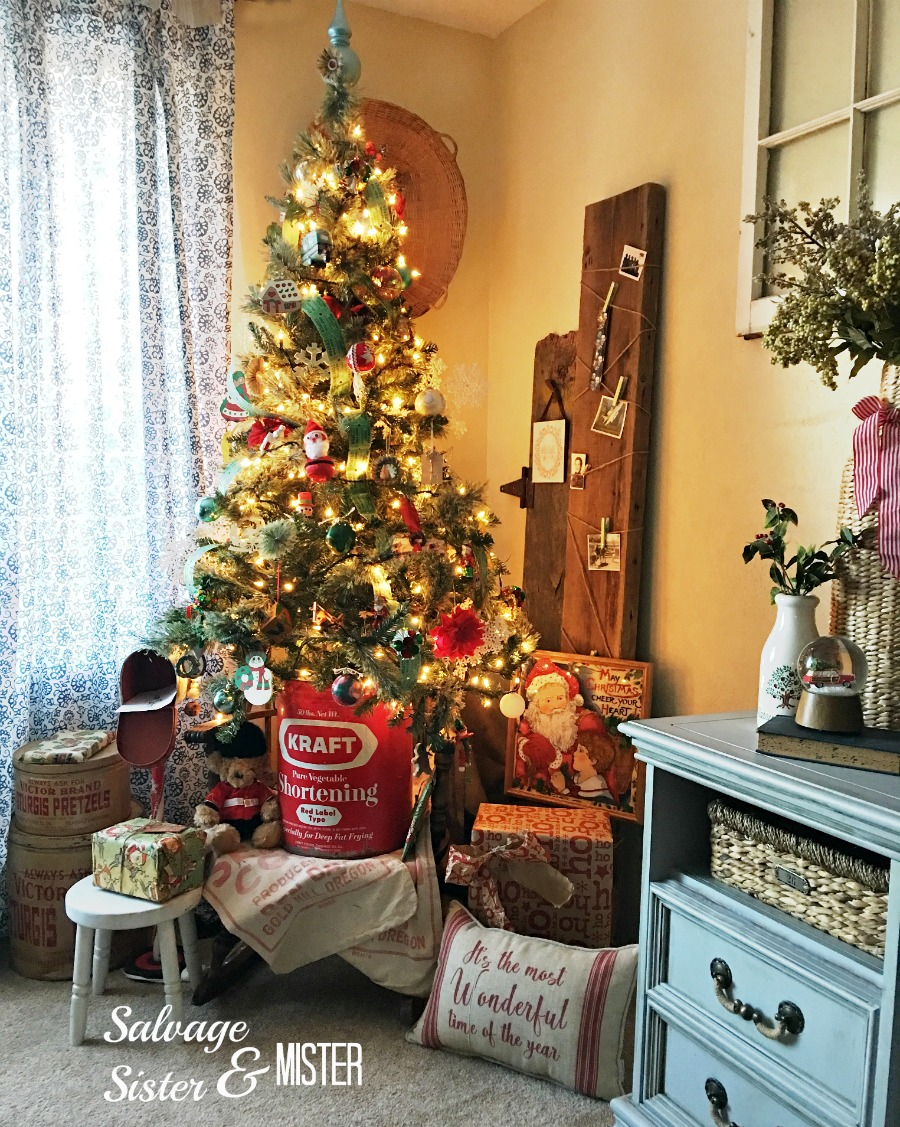 Simple Vintage Christmas Tree Salvage Sister And Mister